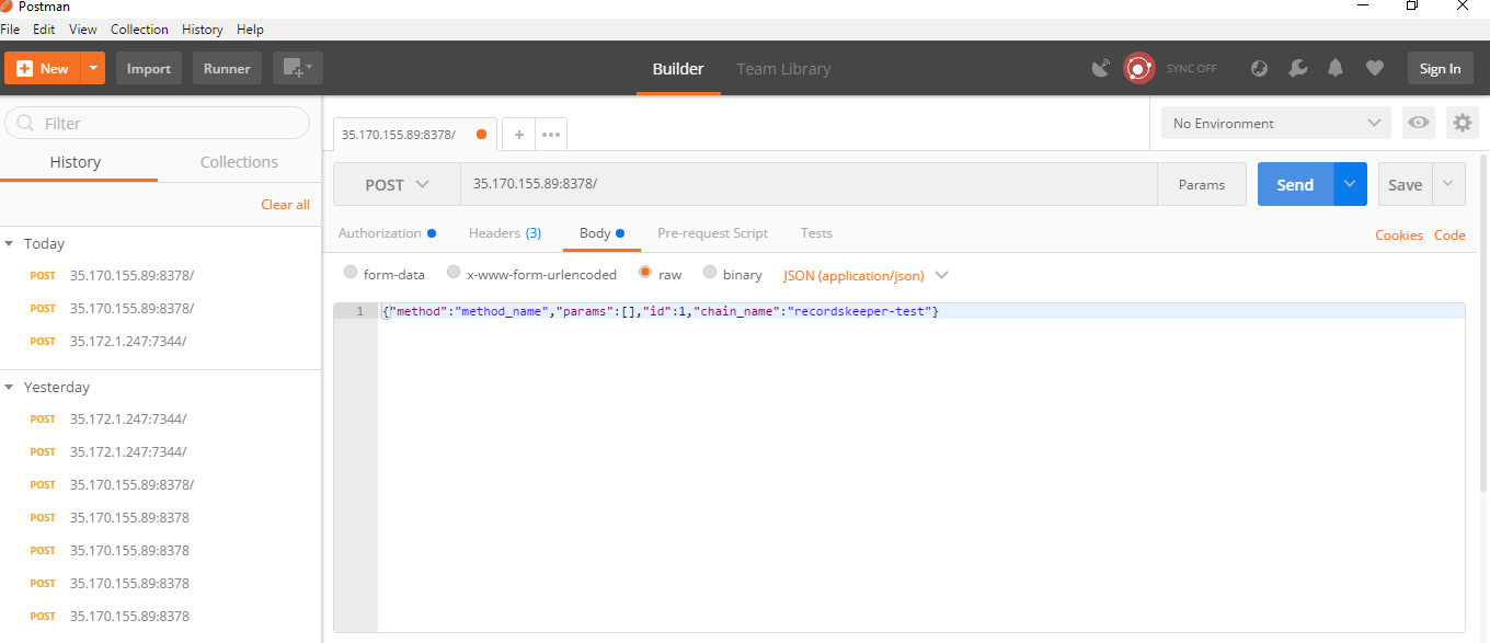 Getting Started with Postman — RecordsKeeper documentation